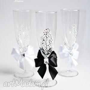 ślub recznie malowane kieliszki do szampana 2 sztuki, kieliszki, szampan, szampanówki