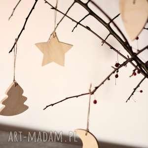 ozdoby świąteczne zawieszki, dekoracja, ozdoba, drewniane