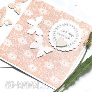 handmade kartki kartka ślubna :: handmade :: motyle koronka