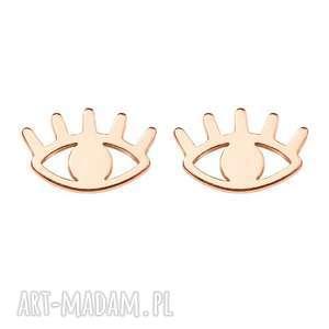 Oko proroka kolczyki, sztyfty, modne, boho, minimalistyczne, oko, eye