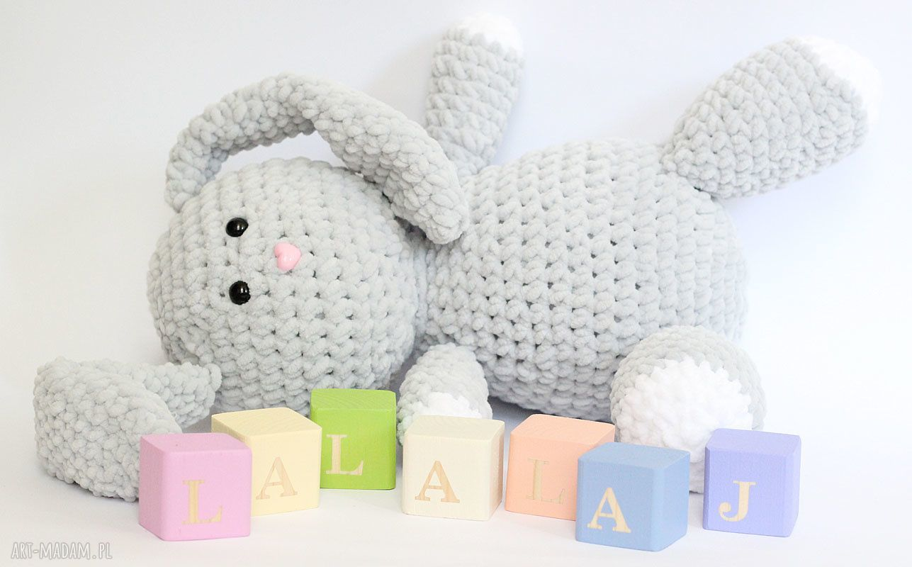 handmade maskotki królik julian