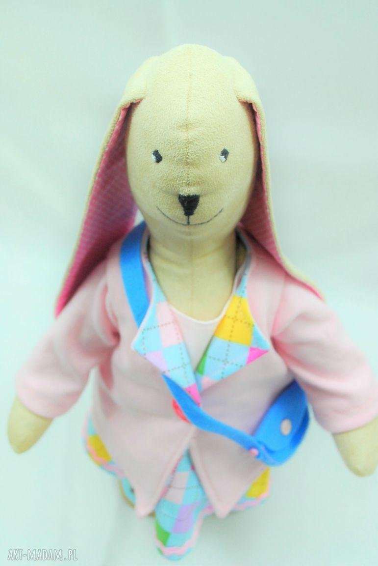 różowe zabawki tilda zajączek