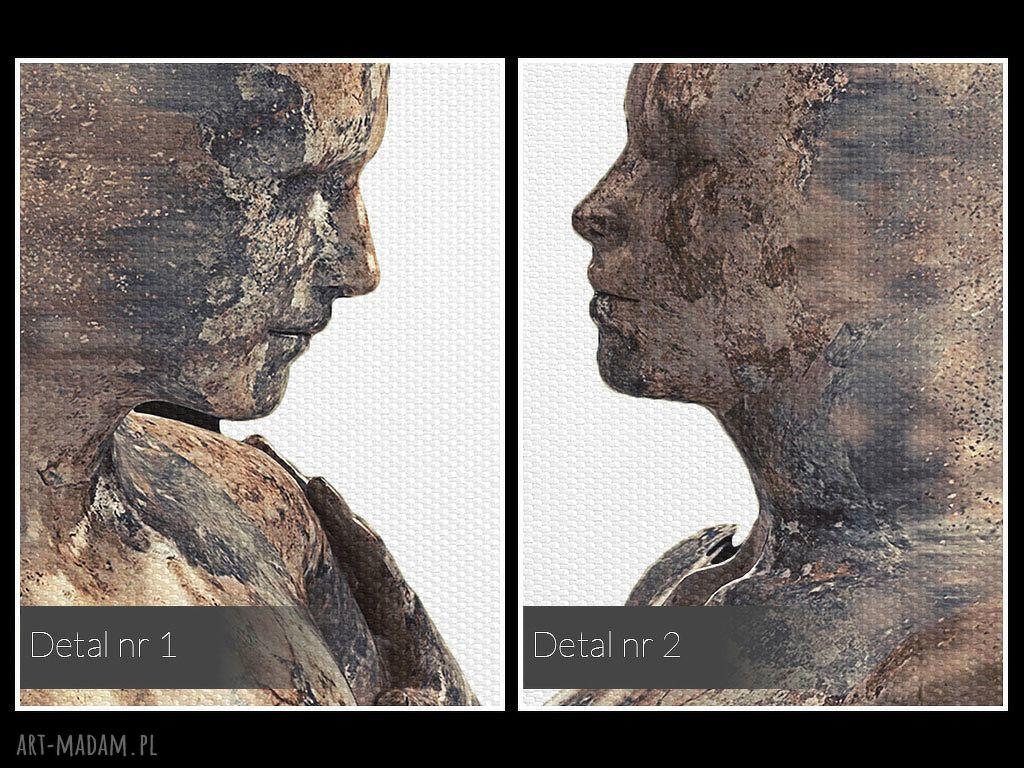 hand made obrazy postacie obraz na płótnie - para sylwetki