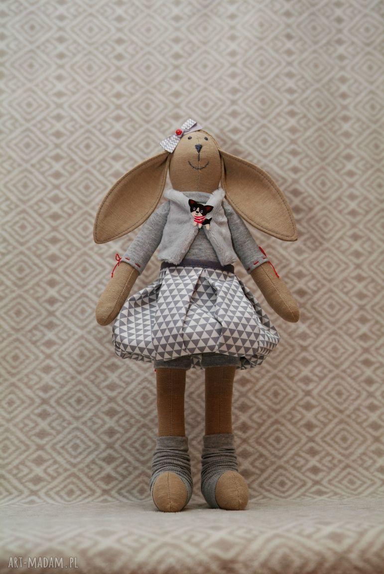 hand-made maskotki piesek żona marynarza wielbicielka piesków