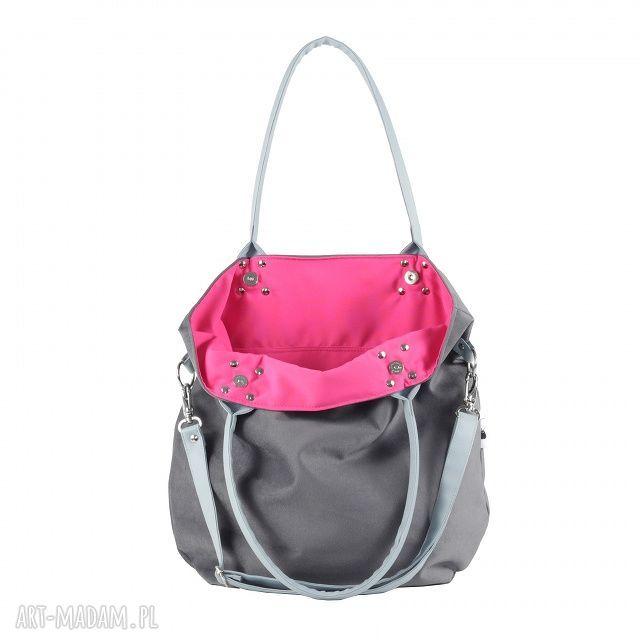 różowe na ramię torba mana mysza light blue