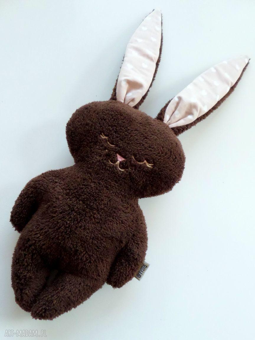 królik maskotki brązowe luluś brązowy