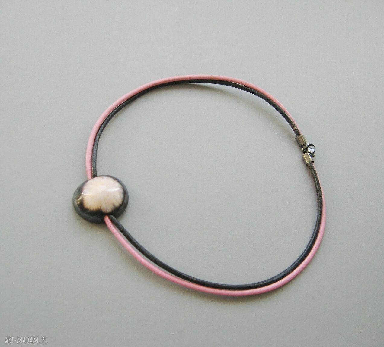 """brązowe naszyjniki elegancki naszyjnik """"wytworna perła"""""""