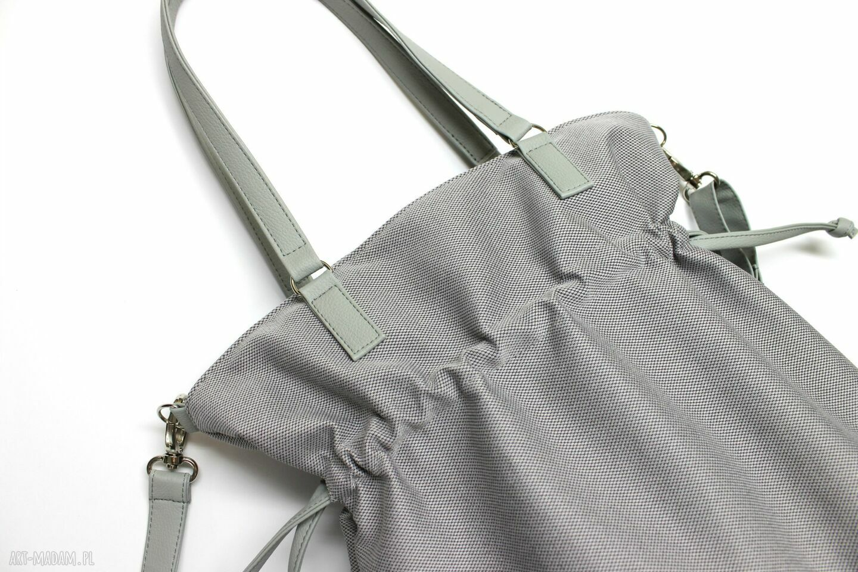 nowoczesna na ramię hobo sack - sakiewka szara