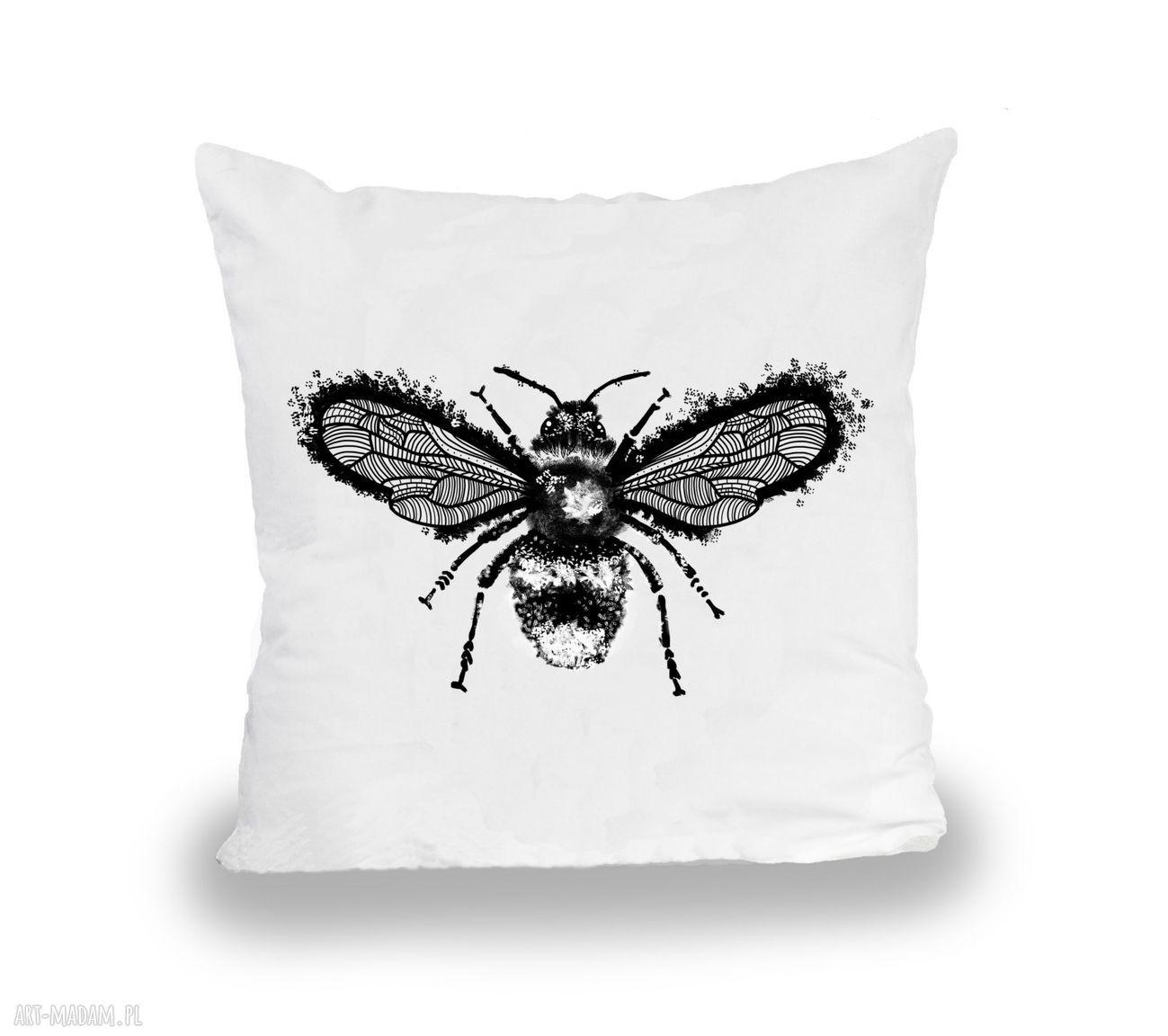 hand-made pokoik dziecka poszewka pszczoła - malinowe cacko