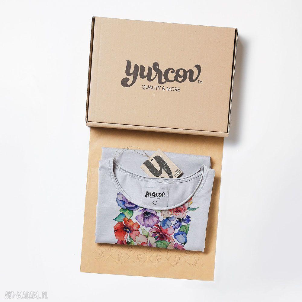 kwiaty koszulki flowers luźna prosta koszulka