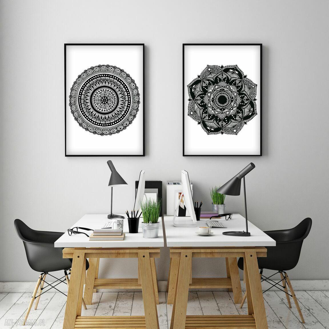 handmade grafika zestaw dwóch prac a3