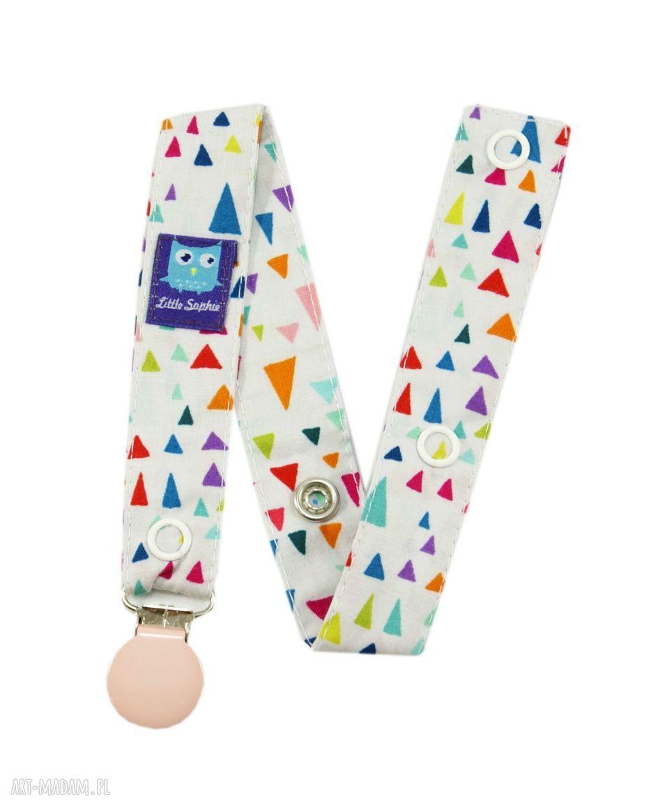 ręcznie robione zabawki zawieszka do smoczka, wzór diamenty