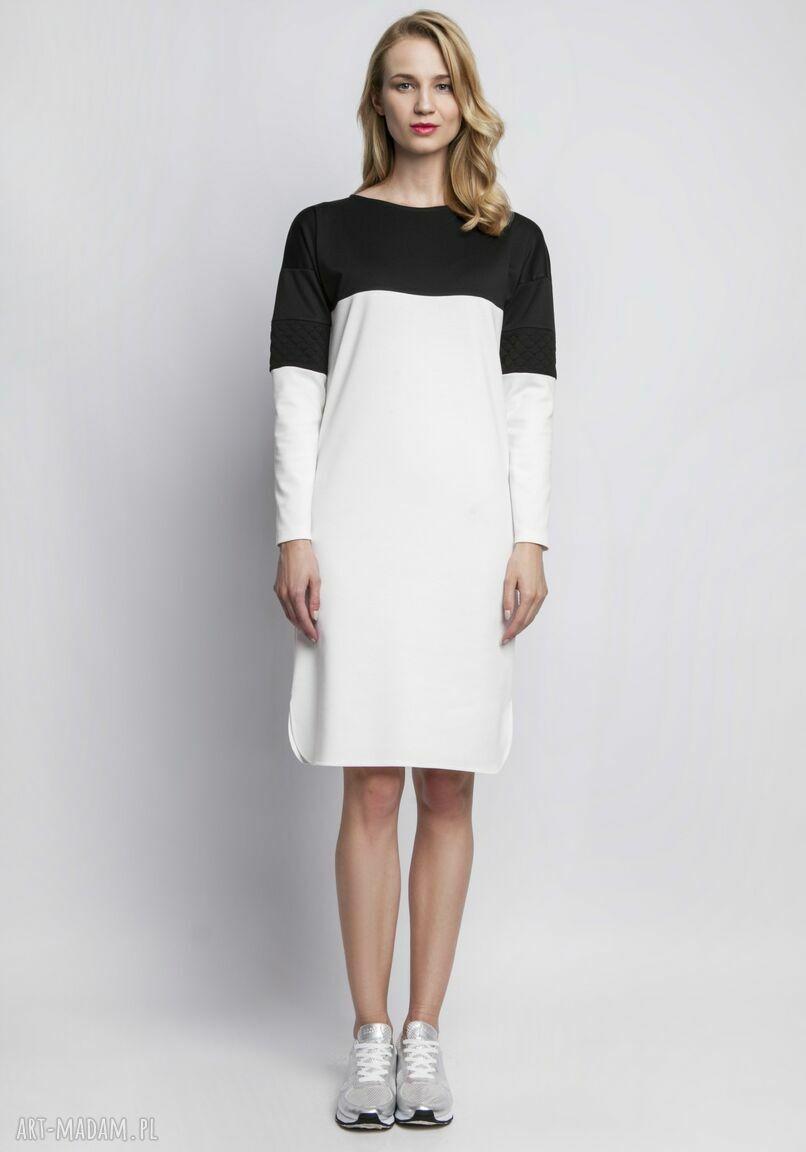 ręcznie wykonane sukienki skóra sukienka, suk107 ecru