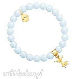 jasnoniebieska bransoletka pereł swarovski® crystal ze - dziecięca