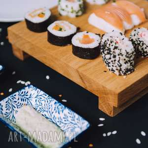 Decha do serwowania sushi, dębowe, dąb, rustykalne