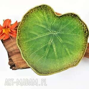 Patera ceramiczna talerz dekoracyjny - liść ceramika tyka