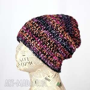 kolorowa czapka wełniana beanie prezent 016, czapka, ciepła