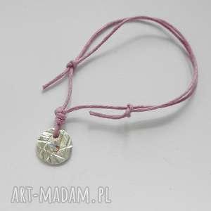 OKRĄG bransoletka, srebro, swarovski, sznurek