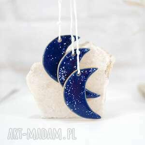 3 ceramiczne ozdoby księżyce - niebo, księżyce, styl skandynawski