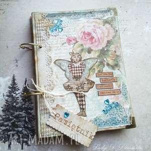 Prezent Stylowy pamiętnik na zimowe zapiski, pamiętnik, notes, motyl, gwiazdy