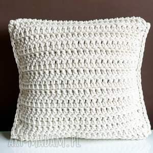 poduszka ze sznurka bawełnianego julia 40x40 cm, poduszka, poduszki