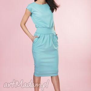 Sukienka MONO Provance mint, sukienka, dzianina, kobieca, ponadczasowa