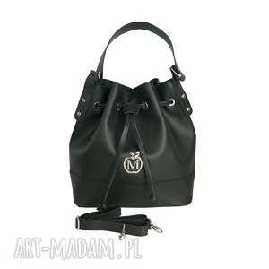 Stylowy worek torebka MANZANA luźny styl- czarny, torebka, torba, worek, damska