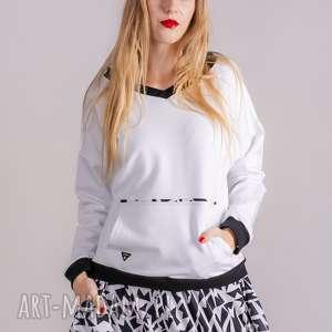 bluzki bluza basic fresh white, bluzki, marynarki, dres, kurtki, spodnie