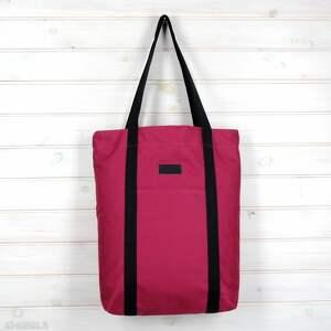 torebka torba shopperka wiśniowa, torebka, shopperka, pojemna, mocna