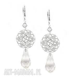 kolczyki srebrne marrakesz z kryształem crystal