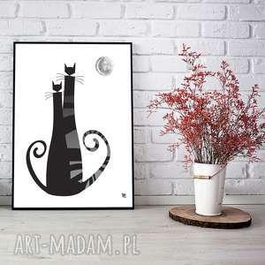 świąteczne prezenty, kocielove plakat b2, kot, love, czarny, ślub, plakat