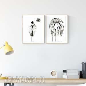 art krystyna siwek zestaw 2 obrazków a4, minimalizm, abstrakcja,, obrazy ręcznie
