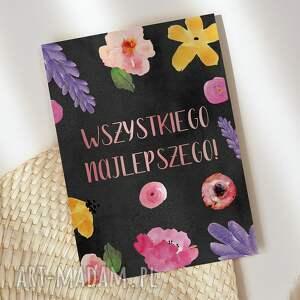 kartki kartka okolicznościowa urodzinowa imieninowa kwiaty