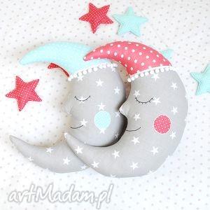 zestaw poduszka księżyc i girlanda - dekoracja, księżyc, poduszka