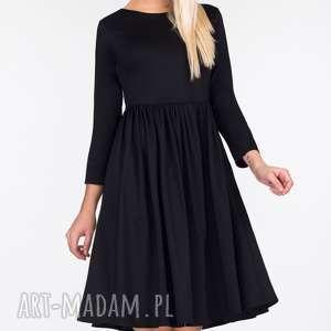 Sukienka MARCI Mini Czarna, czarna, mini, mała, marszczona, urocza, uniwersalna