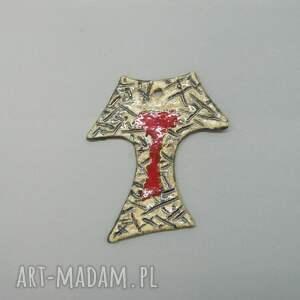 ceramika krzyż - tałka franciszkańska iv, krzyż, dekoracja, ściana, prezent