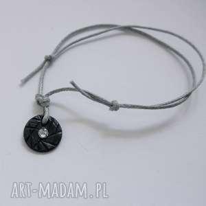 katarzyna kaminska okrąg bransoletka, srebro, swarovski, sznurek, oryginalny prezent