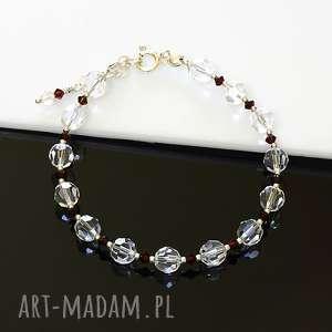 swarovski w srebrze - bransoletka, kryształy, swarovski, srebro