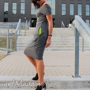 sukienka dresowa ołówkowa midi kolory, sukienka, dresowa, dres, melanż, dresówka
