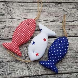 hand-made dekoracje rybki bawełniane