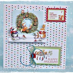 scrapbooking kartki very merry christmas, kartka, scrap, boże, narodzenie