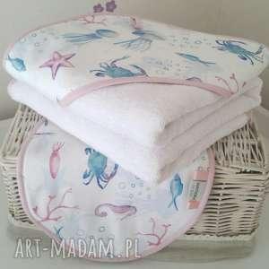 ręcznik niemowlęcy z kapturem myjka, reczni, ręcznik, kąpiel dla dziecka