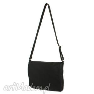 35-0008 czarna torebka aktówka damska do szkoły i studia robin, modne