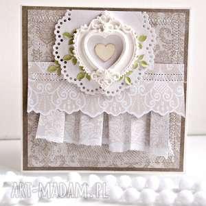 Prezent Kartka z sercem, kartka, ślub, ślubna, prezent, życzenia, scrapbooking