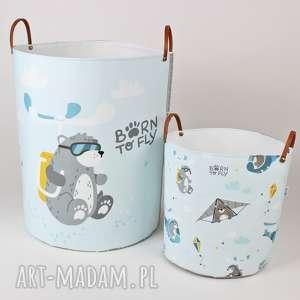 komplet pojemników born to fly, pojemnik, na zabawki, dziecko, urodziny, baby