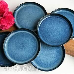 ręczne wykonanie ceramika zestaw deserowy - talerz ceramiczny 6 szt