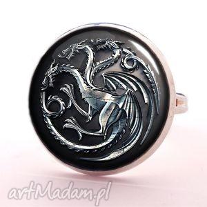 smoki gra o tron - pierścionek regulowany, fantasy