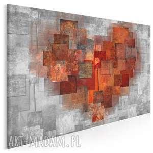 Obraz na płótnie - serce abstrakcja 120x80 cm 43101 vaku dsgn