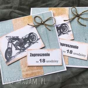 zaproszenia na urodziny - 18stka, 40stka, mężczyzna, motor, zaproszenia