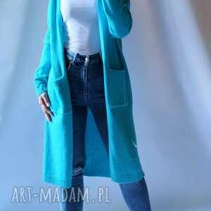 swetry kardigan długi płaszczyk z kieszeniami, sweter, płaszczyk, kieszeniami